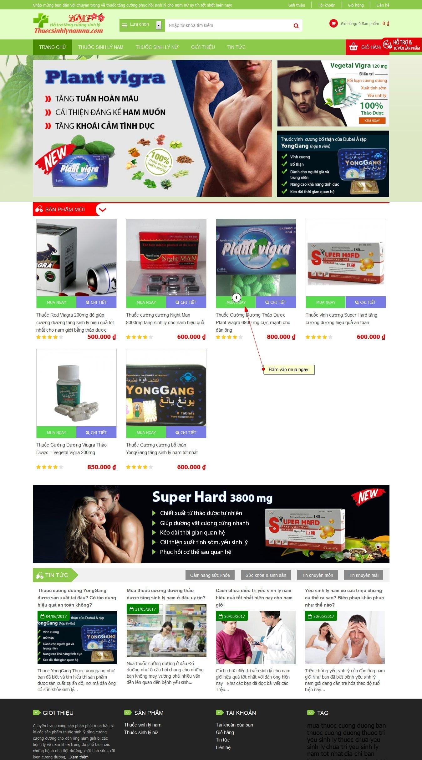 hướng dẫn mua hàng online bước 1