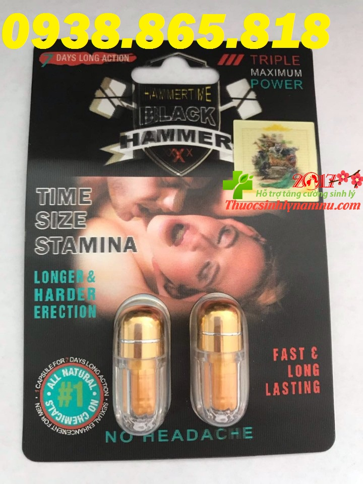 Thuốc black hammer giúp hỗ trợ tăng cường sinh lý cho nam giới hiệu quả cực mạnh không hề có bất kỳ tác dụng phụ nào